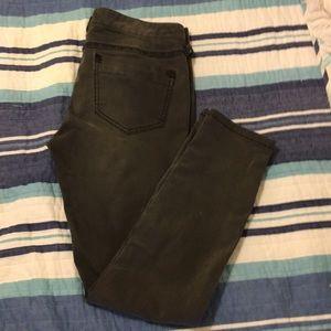 Free People dark grey skinny jeans